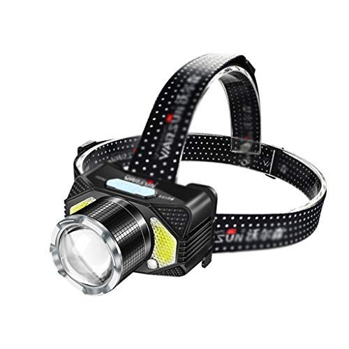 Zxb-shop Head Torch Headband Light for LED éblouissement Charge Phare capteur Head-Mount Outdoor phares pêche de Nuit étanche et Pratique phares Head Torch LED
