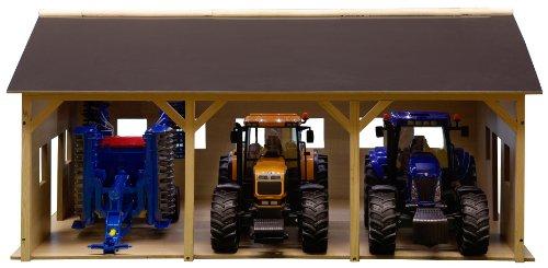 Van Manen Kids Globe Farming Schuppen (aus Holz, mit DachbodenGröße 55 x 77 cm, Maßstab 1:16, ohne Traktor, einfache Montage) 610340