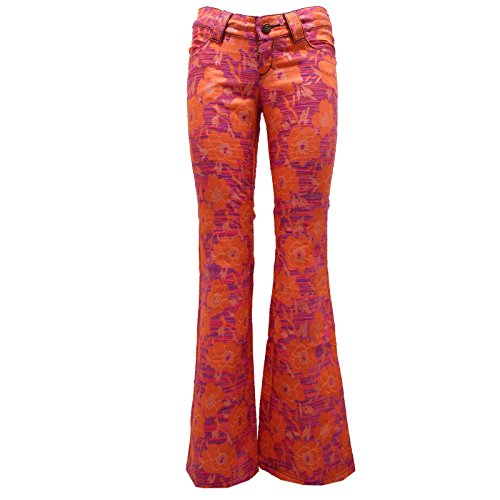 Custo 8412U Pantalone Donna Barcelona Orange Pant Trouser Woman