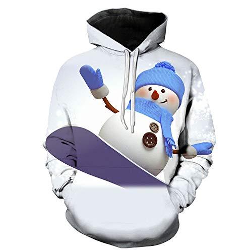 Blwz Unisex hoodies mannen vrouwen 3D sneeuwman ski print trui lange mouwen gebreide jas paar sweatshirts uniform jumper outdoor vrije tijd party
