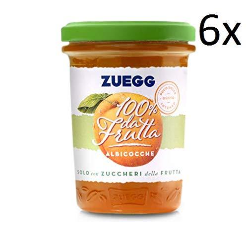6x Zuegg Albicocca Marmelade Aprikose Konfitüre Brotaufstriche Italien 250g