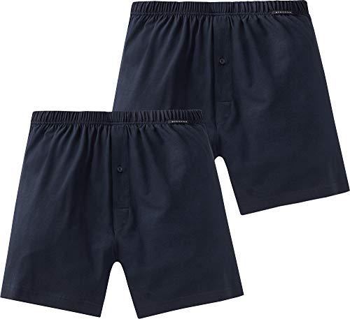 Schiesser Boxershorts 2er Pack Boxer a Pantaloncino, Blu, M (Pacco da 2) Uomo