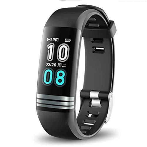 Wsaman Bluetooth Pulsera Actividad Deportiva,Fitness Tracker con 0.96''Pantalla Color para Hombre Mujer Niño, podómetro Reloj Deportivo,Negro