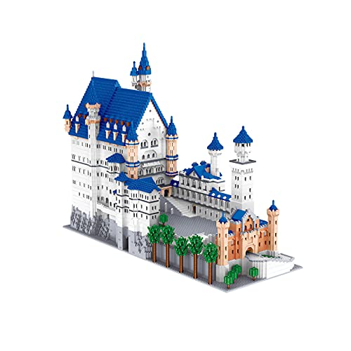 LWX Modelo De Arquitectura De Micro Bloques De Construcción, Arquitectura Famosa del Mundo Castillo De Neuschwanstein, Juguetes De Bloques De Bricolaje