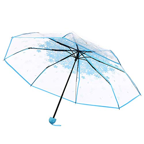 Transparent Clear Umbrella Umbrella Blue