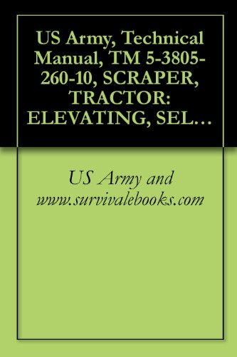 US Army, Technical Manual, TM 5-3805-260-10, SCRAPER, TRACTOR: ELEVATING, SELF-PROPELL 11 CUBIC YARD