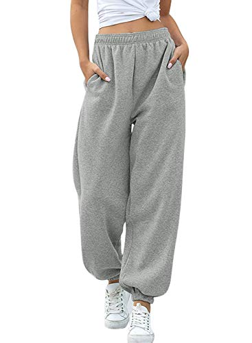 BLENCOT Pantalones Hip Hop Mujer Pantalones Harem de cintura alta Mujer Pantalones...