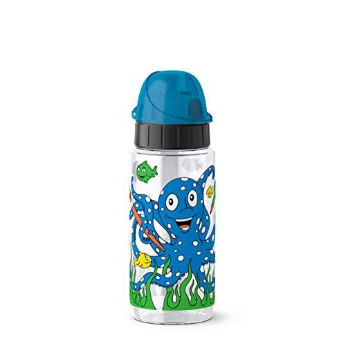 Emsa Drink2Go Tritan 518304 Trinkflasche, 0,5 Liter, AutoClose Verschluss, Octopus
