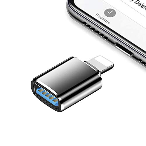 USB Camera Adapter,USB3.0 OTG for iPhone/iPad,Compatible with iOS 13 and Later,USB Female Support Connect USB Flash Drive,Keyboard,Mouse,Suitable for Home Office,Maximum Support 500 mAh