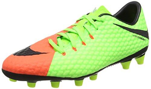 Nike Hypervenom Phelon III AG-Pro, Botas de fútbol Hombre, Verde (Electric Green/Black-Hyper Orange-Volt), 42.5 EU