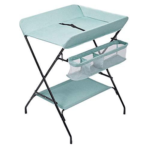 LXDDP Table à Langer bébé, Station de Bain Nouveau-né pour Petits espaces, Table à Langer Pliable Style Jambes croisées, Commode Portable Nouveau-né, pour Les 0-3 Ans