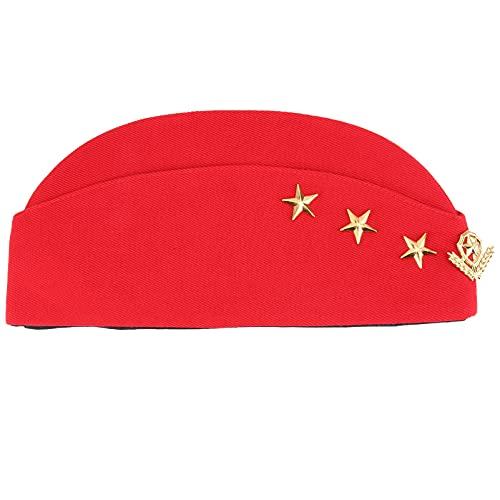 Happyyami 1 Pza Marinero Sombrero Steadess Boina de Avin para Adultos Cosplay Disfraz de Halloween