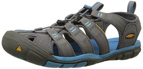 Keen Damen CLEARWATER CNX Geschlossene Sandalen mit Keilabsatz, Grau (Gargoyle/Norse Blue), 40 EU