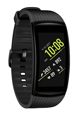 Samsung Gear Fit2 Pro Smart Fitness Watch (Large), Liquid Black - SM-R365NZKAXAR (Renewed)