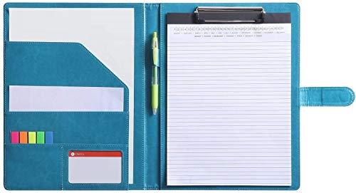 Dokument-Ordner für Standard Briefbogen, Größe A4, Schreibblock, Dokument-Ordnungshelfer mit Innenfächern. Türkis