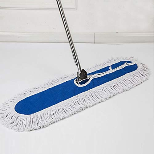 Sale!! QYLSH Rectangular Washable Microfiber Dust Mop Push Row Drag, Wet and Dry - for Companies, Ho...