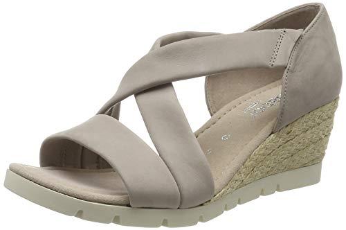Gabor Shoes Comfort Sport, Sandalia con Pulsera Mujer, Beige (Leinen (Jute) 43), 37 EU