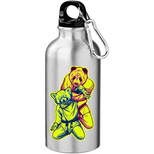 Martial Arts Panda Funny Black Belt Graphic Tourist Water Bottle
