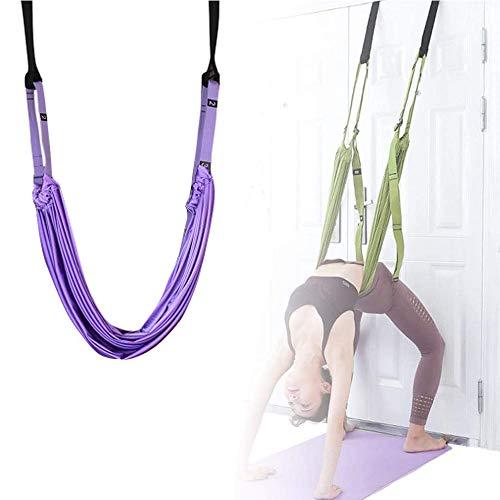 Nobranded Yoga Stretching Strap,Back Bend Assist Trainer Door Backbend Assist Trainer, Back Bend Split Inversionsriemen zur Verbesserung der Flexibilität der Beinstütze (lila)