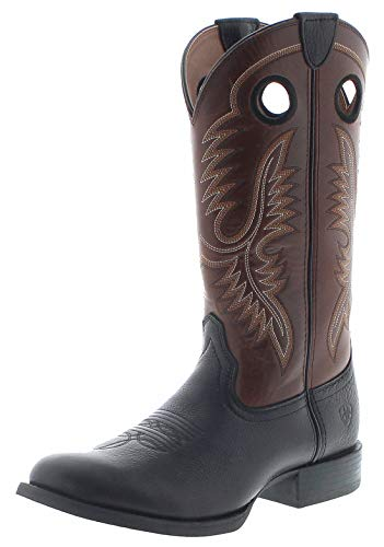 Ariat Herren Cowboy Stiefel Sport Big Hoss Lederstiefel Westernstiefel Schwarz 45 EU