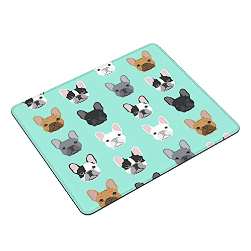 Cute French Bulldog Sweet Dog Puppy Puppies Dog Funny Gaming Mouse Pad for Women Men Laptop Computer Office Desk Work Mousepad Rectangle Mat with Designs Glorious 11.8 x 9.8 Inch