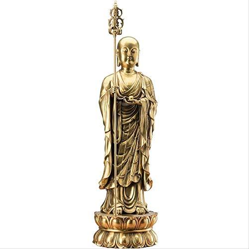 RYOG Skulpturen Figur Ornamente Geschenke Wohnkultur Messing Buddha Statue Dekoration Wohnaccessoires Vintage Jizo Buddhismus Skulptur Dekoration Artikel