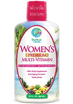 Women s Premium Liquid Multivitamin Superfood Herbal Blend - Anti-Aging Liquid Multivitamin for Women 100+ Ingredients Promote Heart Health Brain Health Bone Health -1mo Supply