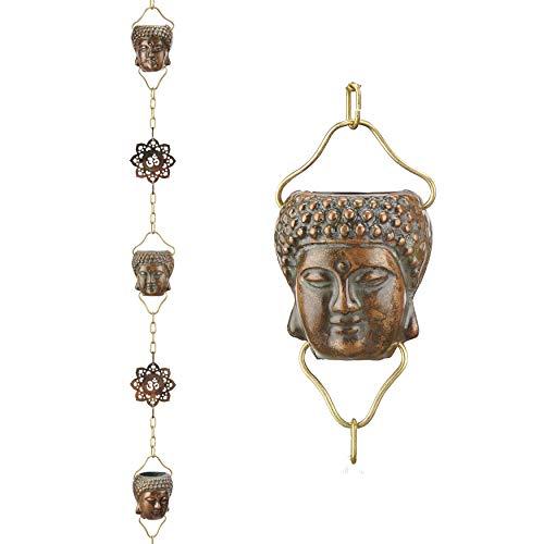Good Directions Buddha Regenkette aus reinem Kupfer, 24,6 cm Grünspan Reines Kupfer