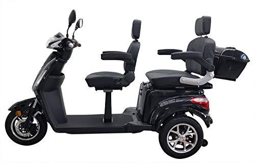 Elektromobil VITA CARE 2000 Lithium Akku Seniorenmobil Senioren-Scooter mit Straßenzulassung E-Scooter E-Roller Produktvideo, Schwarz