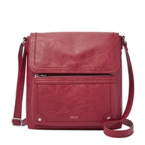 Relic by Fossil Evie Flap Crossbody Handbag, Baked Apple