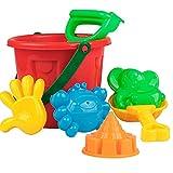 Ruby569y Juego de 7 piezas de juguete de playa y arena de juguete colorido creativo divertido cangrejo playa arena cubo juego de pala para entretenimiento – Color al azar
