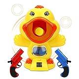 Power Popper Ball Shooter Gun Set Schießspiel Spielzeug-Kits mit 12 EVA-Weichschaum-Kugeln Süße...