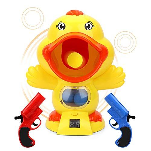 Power Popper Ball Shooter Juego de pistola Juego de disparos Kits de juguetes con 12 EVA Bolas de espuma blanda Pato lindo Juegos al aire libre para niños