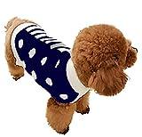 Ropa de Perro Jerseys de Punto de Lana Suéter Cálido Alto Cuello Mascotas (Azul Oscuro, L)