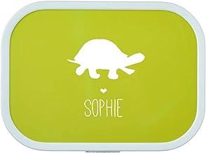 4you Design Brotdose Schildkröte Silhouette mit Namen | Mep