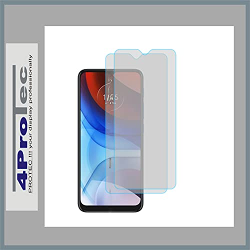 4ProTec   2X Bildschirm-Schutz-Folie KLAR für Motorola Moto E7i Power