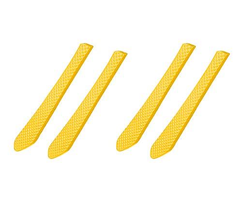 2 pares de almohadillas de goma de repuesto para gafas de sol Oakley Jupiter Squared, (Almohadillas de goma amarillas.), Talla única
