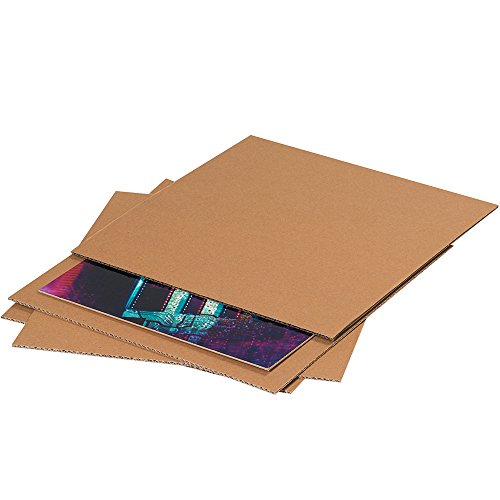 "Aviditi SP811 Single-Wall Corrugated Layer Pad, 11-7/8"" Length x 8-7/8"" Width, Kraft (Bundle of 100)"