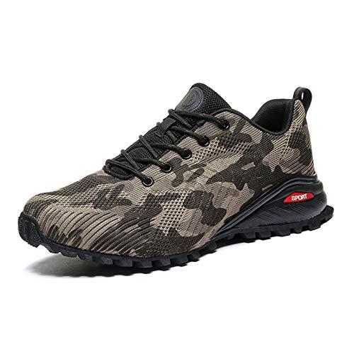 COOJOY Zapatos de Trail Running Hombre Zapatillas de Senderismo Transpirables Zapatos para Caminar