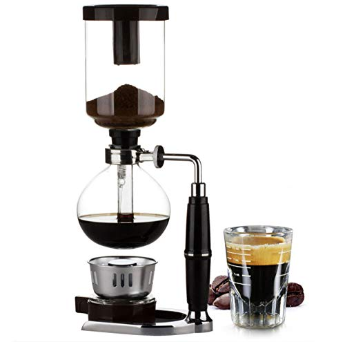 Japanese Style Siphon coffee maker Tea Siphon pot vacuum coffeemaker glass type coffee machine filter kahve makinas 5cup,Silver