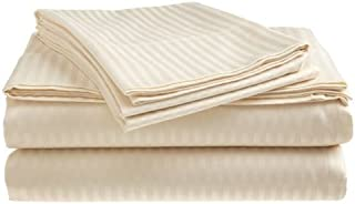 Millenium Linen  King Size Bed Sheet Set - Beige Ivory - 1600 Series 4 Piece - Deep Pocket  -  Cool and Wrinkle Fre e - 1 Fitted, 1 Flat, 2 Pillow Cases