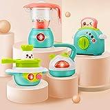 GizmoVine Kinderküchenspielzeug mit Toaster, Mixer, Wasserkocher und Herd Rollenspiel Küchengerät Babyspiele für 1 2 3 Jahre Mädchen Jungen Kinder