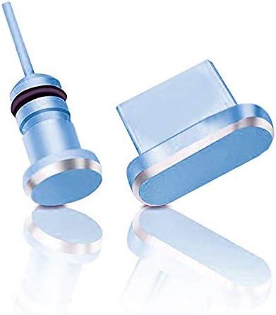 innoGadgets Enchufe de protección contra el Polvo Compatible con Smartphone, MacBook, Laptop | Protección para Cada conexión USB-C - Samsung Galaxy S8, S9, S10, S10e, S20 y Muchos más | Azul