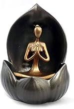 Incensário Cascata de Fumaça Flor de Lótus com Yoga (10cm)