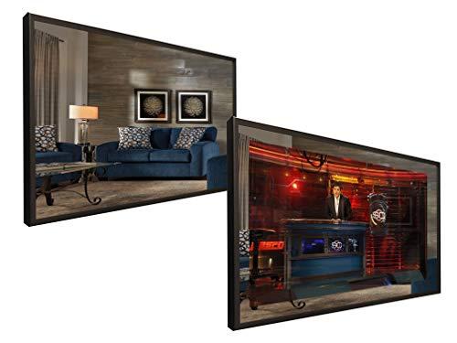"""51"""" x 31"""" Full Vanishing Framed TV Mirror with 55"""" 4K TV"""