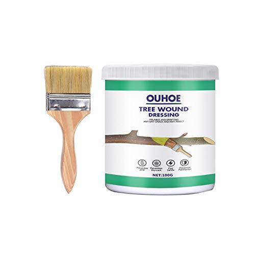 Bonsai Cut Paste, Tree Pruning Sealer Grafting Wax Tree Paint, Tree Wound Dressing with Brush, Bonsai Tree Wound Pruning Sealer Tree Protectors