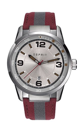 Esprit Herren-Armbanduhr ES109441001, Rot/Grün