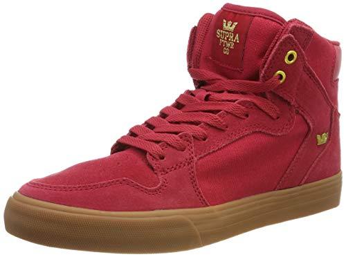 Supra Unisex-Erwachsene Vaider Hohe Sneaker, Rot (Rose/Gold-Lt Gum 644), 43 EU