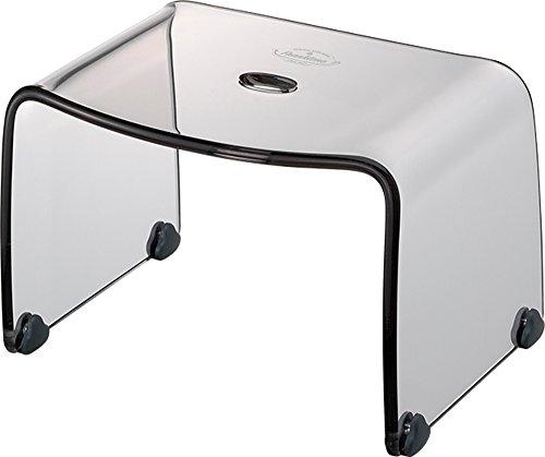 リス 風呂椅子 高さ 20cm クリアグレー フランクタイム バスチェアー S