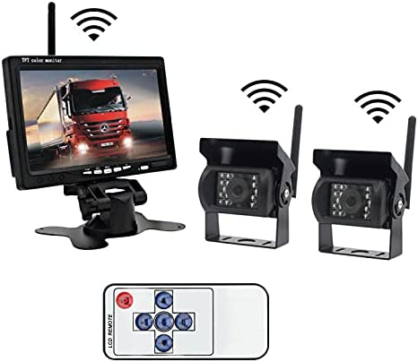 Wireless Backup Max 45% OFF Monitor and Same day shipping Dual Camera Inch Rear Kit 7 Lychee